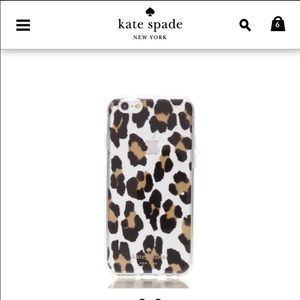 NWT Kate Spade Leopard Clear IPhone 6 Case